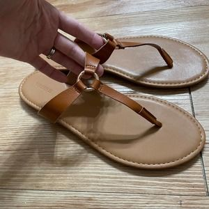 Forever 21 T strap Brown Sandals